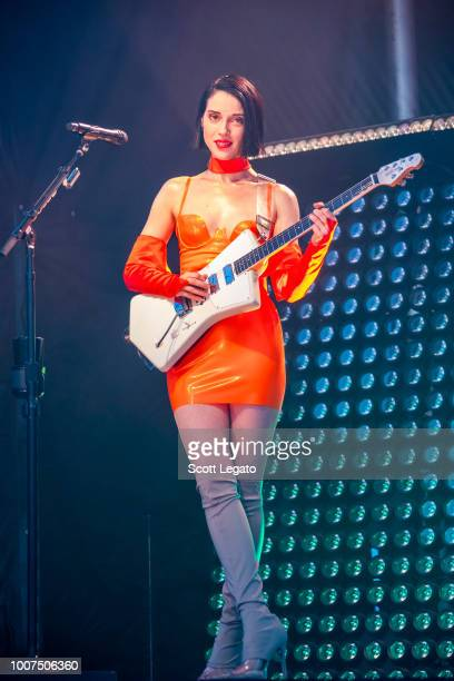 St. Vincent performs on day 2 of Mo Pop Festival at West Riverfront Park on July 29, 2018 in Detroit, Michigan.