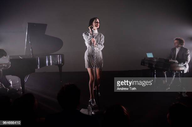 St Vincent performs onstage during MOMA's Party in the Garden 2018 at The Museum of Modern Art on May 31 2018 in New York City