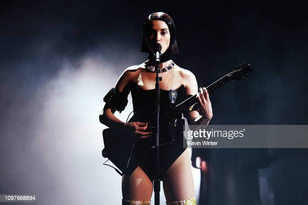 St Vincent performs onstage during the 61st Annual GRAMMY Awards at Staples Center on February 10 2019 in Los Angeles California