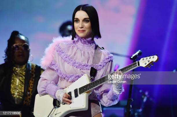 St Vincent performs onstage during the 62nd Annual GRAMMY Awards Let's Go Crazy The GRAMMY Salute To Prince on January 28 2020 in Los Angeles...