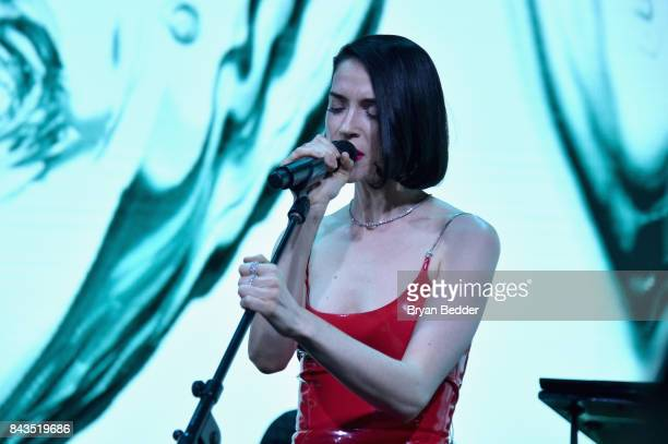 St Vincent performs onstage during the Tiffany Co Fragrance launch event on September 6 2017 in New York City