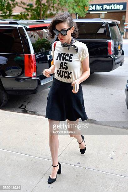 St Vincent seen in Tribecca on August 1 2016 in New York City