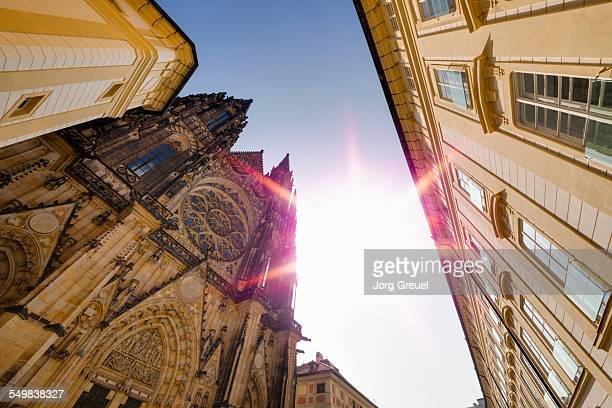 st. vitus cathedral - st vitus's cathedral stock pictures, royalty-free photos & images
