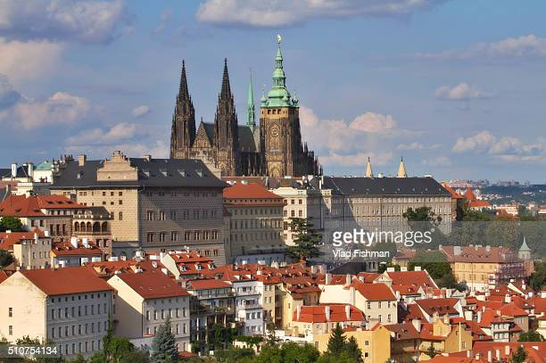 st. vitus cathedral, prague - st vitus's cathedral stock pictures, royalty-free photos & images
