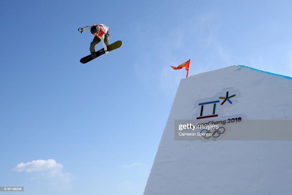 Staale Sandbech of Norway competes during the Snowboard Men's Slopestyle Final on day two of the PyeongChang 2018 Winter Olympic Games at Phoenix Snow Park on February 11, 2018 in Pyeongchang-gun, South Korea.