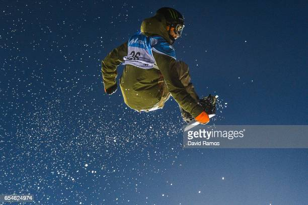 Staale Sandbech of Norway competes in the Men's Snowboard Big Air final on day ten of FIS Freestyle Ski Snowboard World Championships 2017 on March...