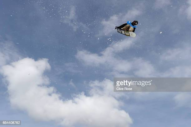 Staale Sandbech of Norway competes in the Men's Snowboard Big Air semi final on day ten of the FIS Freestyle Ski Snowboard World Championships 2017...