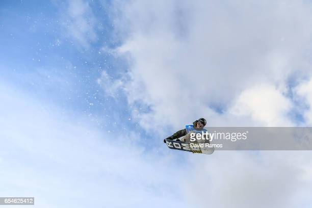 Staale Sandbech of Norway in action during a training session ahead of the Men's Snowboard Big Air final on day ten of FIS Freestyle Ski Snowboard...