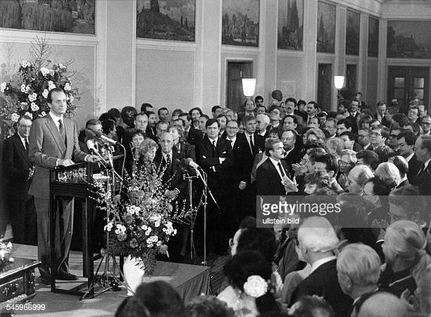 Staatsbesuch des spanischen KönigsJuan Carlos I. In Berlin: Ansprachewährend des Empfangs im Rathaus Schöneberg