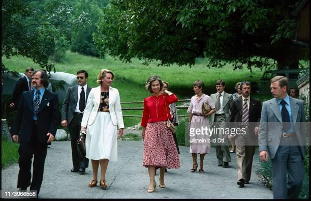 Staatsbesuch Juan Carlos und Sofia von Spanien 1979 Königin Sofia