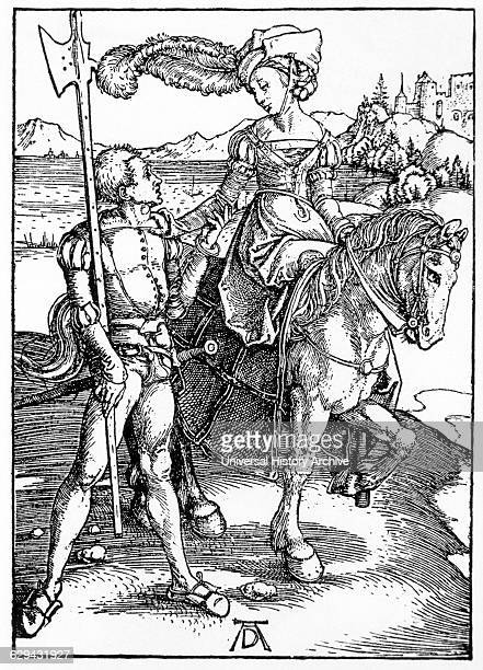Stable Boy and the Lady Albrecht Durer Engraving