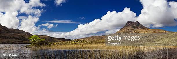 Stac Pollaidh and a reed-bed