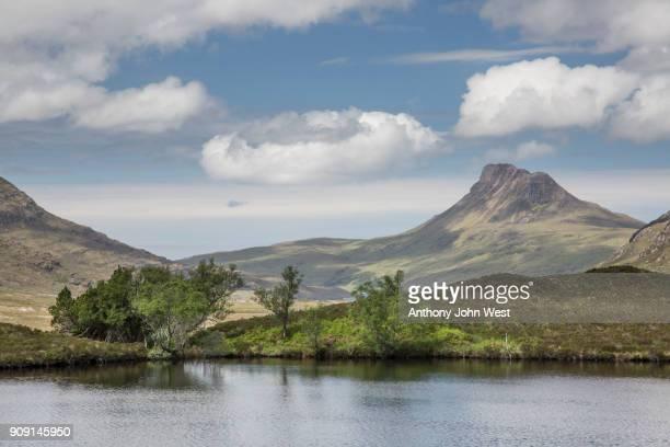 Stac Pollaidh in the Assynt hills from Loch Cul Dromannan, Assynt, Scotland