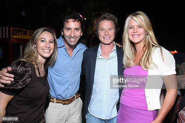 Stacey and Adam Jordan Billy Bush and Maeve Quinlan at The Lollipop Theater Network's Game Day 2009 Sneak Peek Event held at The Home of Janet Crown...