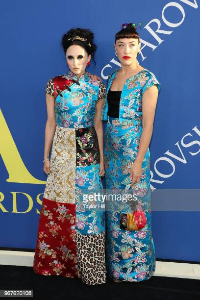 Stacey Bendet and Mia Moretti attend the 2018 CFDA Awards at Brooklyn Museum on June 4 2018 in New York City
