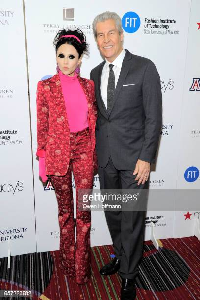 Stacey Bendet and Terry Lundgren attend Fashion Institute Of Technology 2017 Gala at Marriott Marquis on March 22, 2017 in New York City.