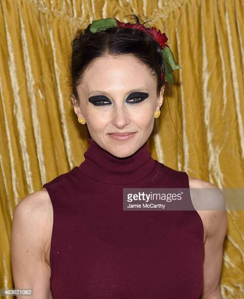 Stacey Bendet arrives at the Alice + Olivia presentation during Mercedes-Benz Fashion Week Fall 2015 on February 16, 2015 in New York City.