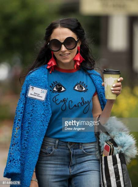 Stacey Bendet attends the fourth day of the annual Allen Company Sun Valley Conference July 14 2017 in Sun Valley Idaho Every July some of the...