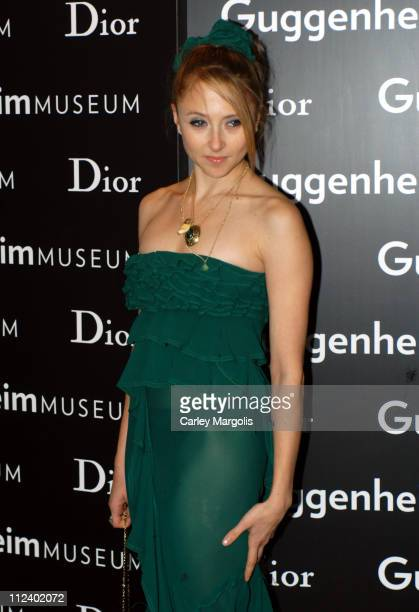 Stacey Bendet during Dior Sponsors the Solomon R Guggenheim Museum's Young Collectors Council Artist's Ball Honoring Matthew Ritchie at Guggenheim...