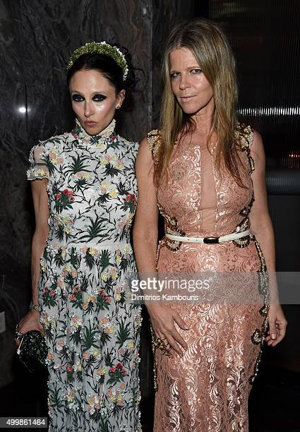 Stacey Bendet Eisner and Yvonne Force Villareal attend Aby Rosen and Samantha Boardman host their Annual Dinner at The Dutch W Hotel South Beach on...