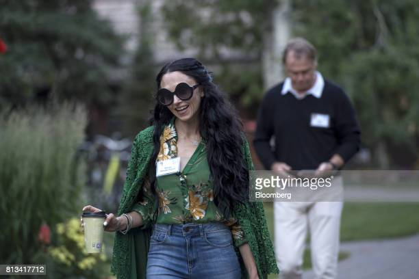 Stacey Bendet Eisner chief executive officer and creative director of Alice Olivia LLC arrives for a morning session during the Allen Co Media and...