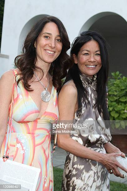 Stacey Bronfman and Helen Lee Schifter attend the 2011 Guild Hall summer gala on August 12, 2011 in East Hampton, New York.