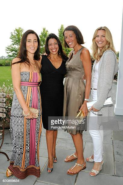 Stacey Bronfman Lisa Anastos Laura DubinWander and Rachel DiCarlo attend MARTINOSA Celebrates CREATIVE TIME at Private Residence on August 2 2008 in...