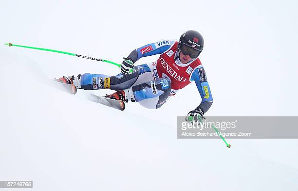 Stacey Cook of the USA takes 2nd place during the Audi FIS Alpine Ski World Cup Women's Downhill on November 30 2012 in Lake Louise Canada