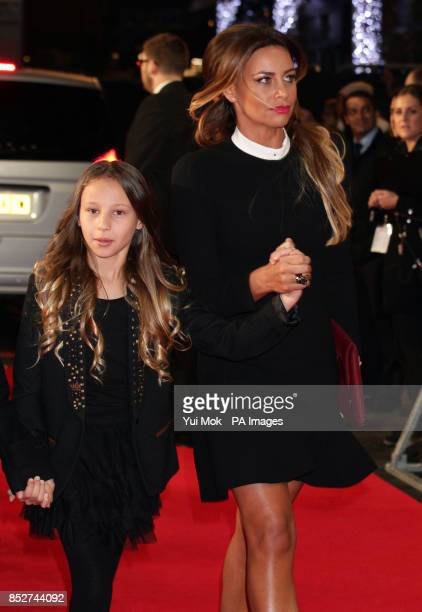 Stacey Cooke wife of Ryan Giggs arriving with their daughter Liberty for the world premiere of The Class of 92 at the Odeon Leicester Square central...