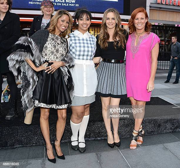 Stacey Dash Alicia Silverstone and Elisa Donovan attend the Film Independent's prefestival outdoor screening of 'Clueless' at LA LIVE on May 6 2014...