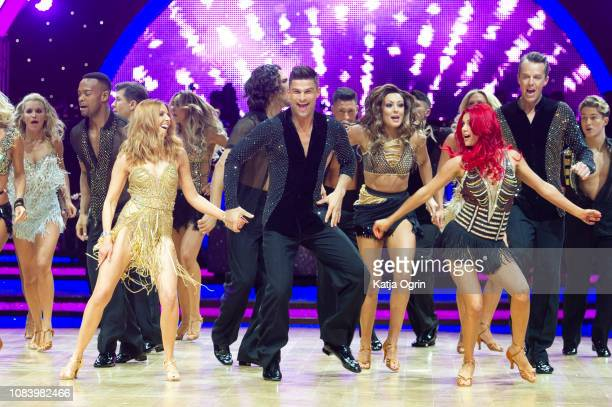 Stacey Dooley and Aljaz Skorjanec attend the photocall for the 'Strictly Come Dancing' live tour at Arena Birmingham on January 17 2019 in Birmingham...