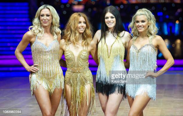 Stacey Dooley Ashley Roberts Lauren Steadman and Faye Tozer attend the photocall for the 'Strictly Come Dancing' live tour at Arena Birmingham on...