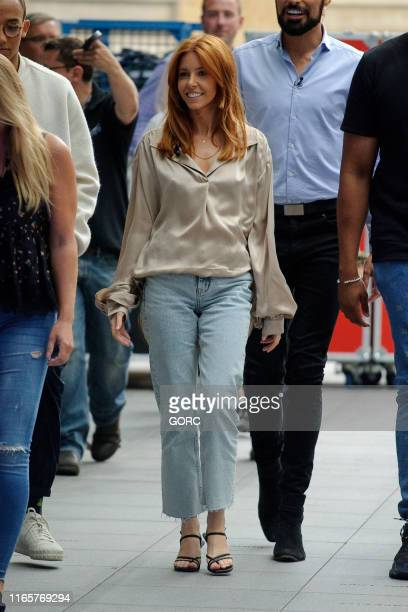 Stacey Dooley seen recording the One Show at BBC Studios on August 02 2019 in London England