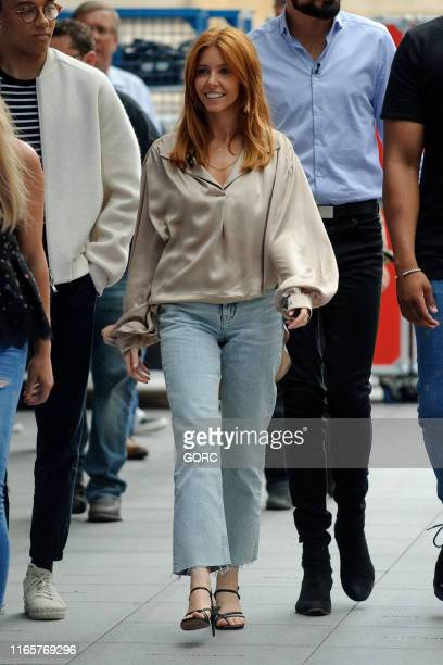 Stacey Dooley seen recording the One Show at BBC Studios on August 02, 2019 in London, England.