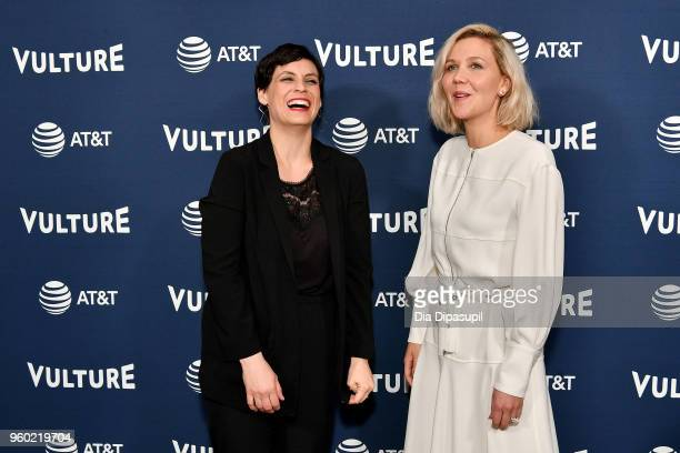 Stacey Hunt Wilson and Maggie Gyllenhaal attend the Vulture Festival Presented By ATT Milk Studios Day 1 at Milk Studios on May 19 2018 in New York...