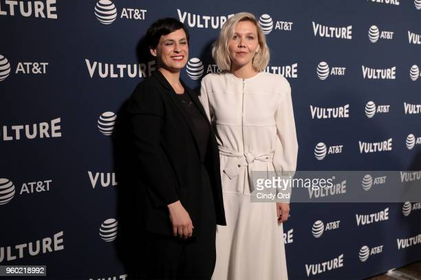 Stacey Hunt Wilson and Maggie Gyllenhaal attend Vulture Festival Presented By ATT at Milk Studios on May 19 2018 in New York City