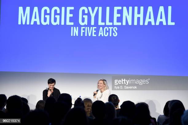 Stacey Hunt Wilson and Maggie Gyllenhaal speak onstage at Vulture Festival Presented By ATT MAGGIE GYLLENHAAL IN FIVE ACTS at Milk Studios on May 19...