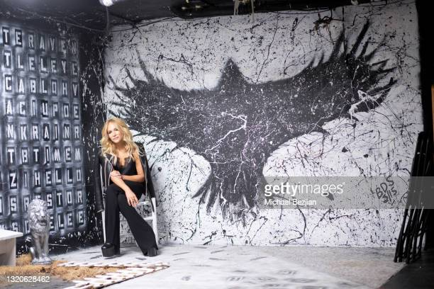 Stacey Jackson poses for a portrait in the Rabbit Hole during The Artists Project Giveback Day on May 28, 2021 in Los Angeles, California.
