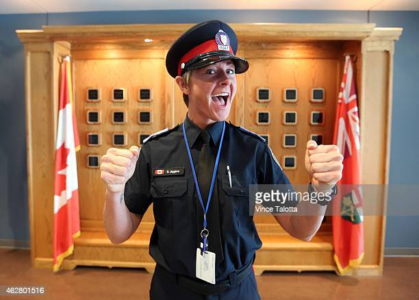 Stacey Jiggins soon to be Police Constable Stacey Jiggins hams it up the day before graduation at Toronto Police College in Etobicoke