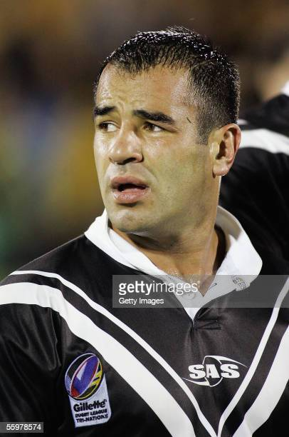 Stacey Jones of New Zealand looks dejected after the TriNations match between New Zealand and Australia at the Ericsson Stadium October 21 2005 in...