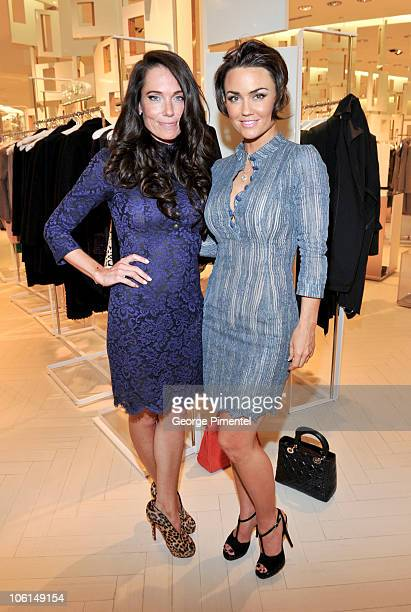 Stacey Kimel and Kelly Carlson attend the cocktail reception for designer L'Wren Scott at The Room The Bay on October 26 2010 in Toronto Canada