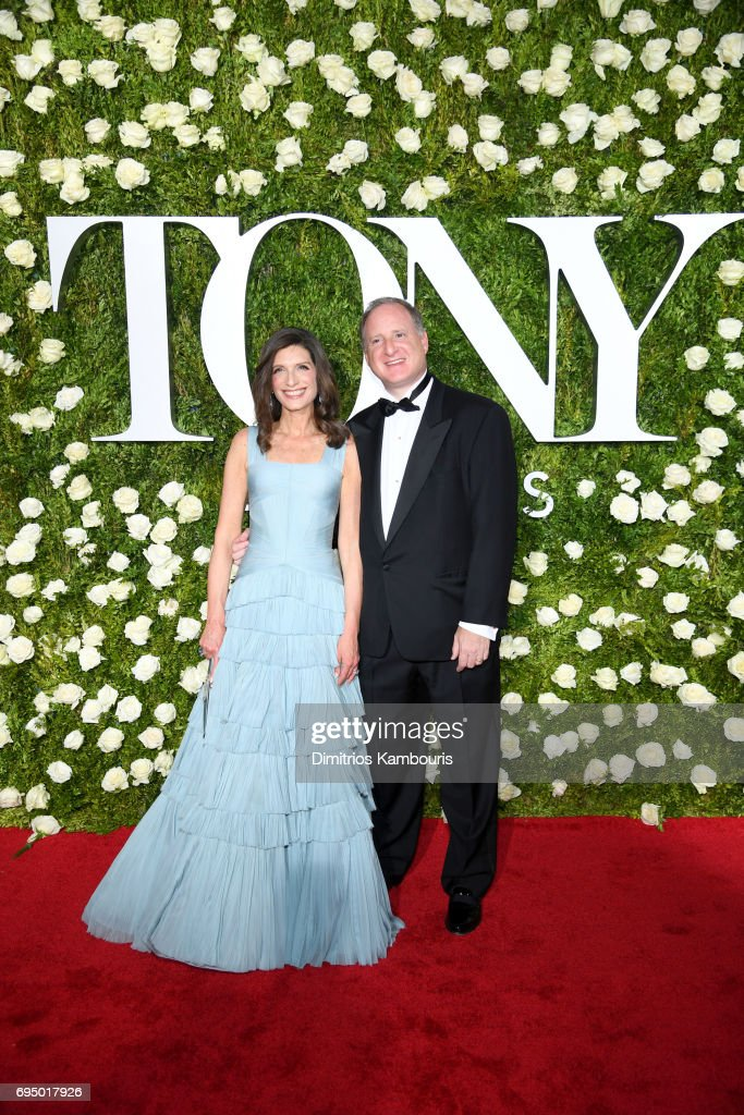 Stacey Mindich and guest attend the 2017 Tony Awards at Radio City Music Hall on June 11, 2017 in New York City.