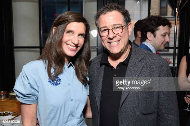 Stacey Mindich and Michael Greif attend Designed To Celebrate A Toast To The 2017 Tony Awards Creative Arts Nominees at The Lamb's Club at the...