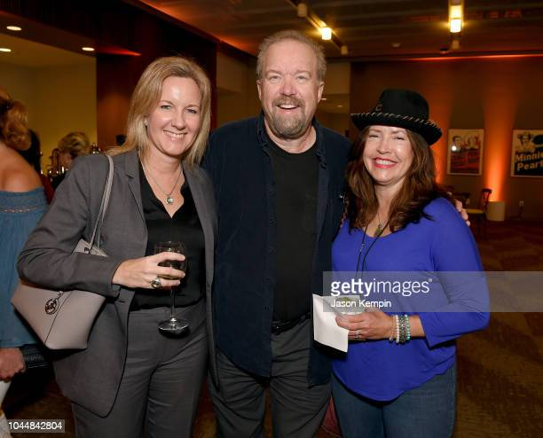 Stacey Schlitz Don Schlitz and guest attend Emmylou Harris' exhibition debut at Country Music Hall of Fame and Museum on October 2 2018 in Nashville...