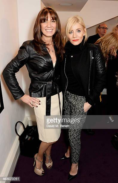 Stacey Smith and Michelle Collins attend a private view of 'The Best Of Terry O'Neill' exhibition at The Little Black Gallery on January 16 2014 in...