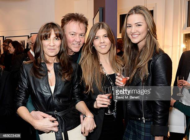 Stacey Smith Paul Young Levi Young and Layla Young attend a private view of 'The Best Of Terry O'Neill' exhibition at The Little Black Gallery on...