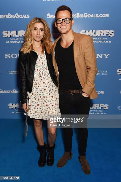 Stacey Solomon and Joe Swash attend the Gala Screening of 'Smurfs: The Lost Village' at Cineworld Leicester Square on March 19, 2017 in London,...