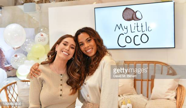 Stacey Solomon and Rochelle Humes attend the 'My Little Coco' Launch Event on February 17 2020 in London England