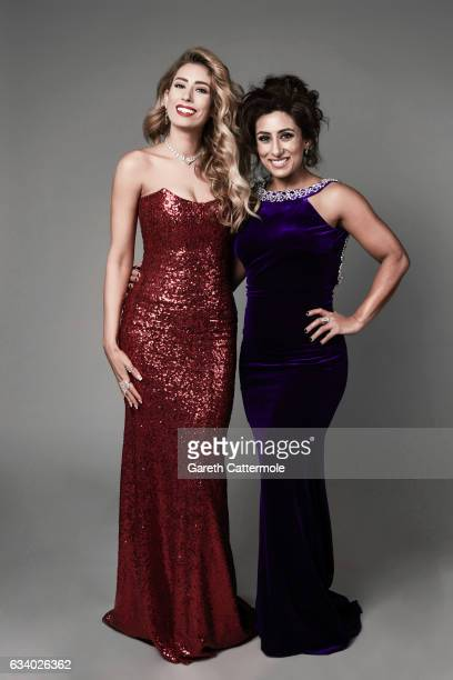 Stacey Solomon and Saira Khan attend the National Television Awards Portrait Studio at The O2 Arena on January 25 2017 in London England