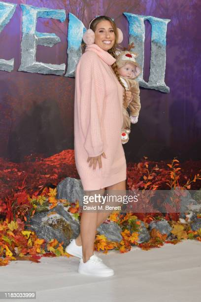 Stacey Solomon and son Rex attend the European Premiere of Frozen 2 at the BFI Southbank on November 17 2019 in London England